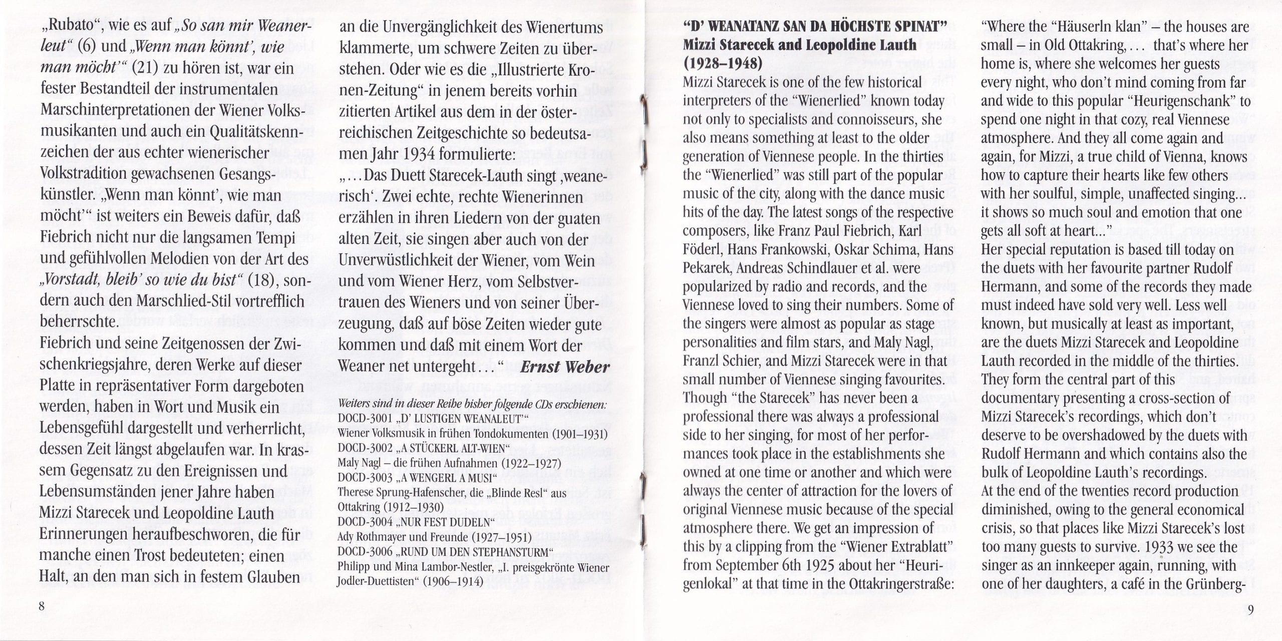 D Weanatanz san da höchste Spinat – Booklet – 8-9
