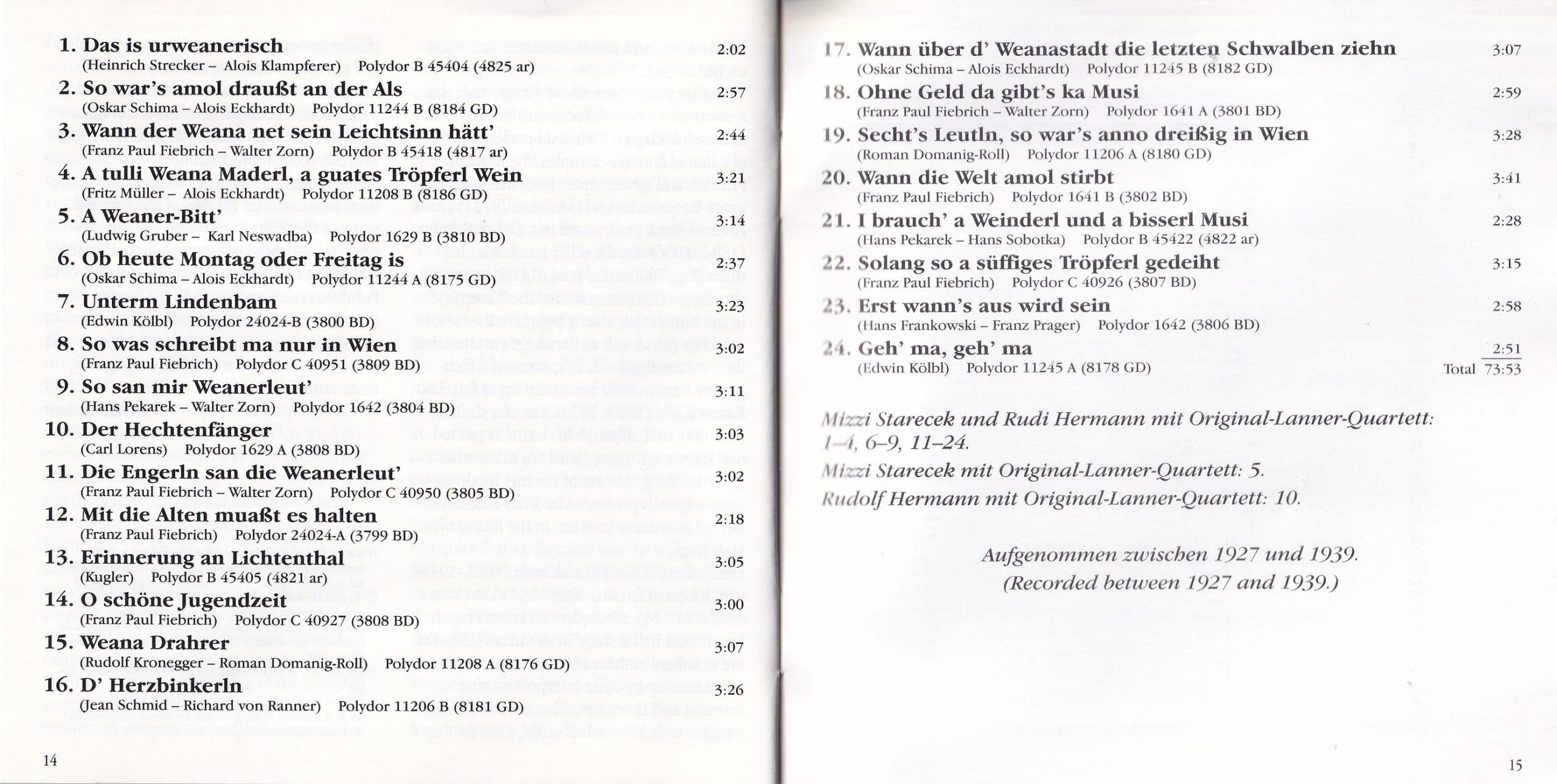 Das is urwienerisch – Booklet – 14-15