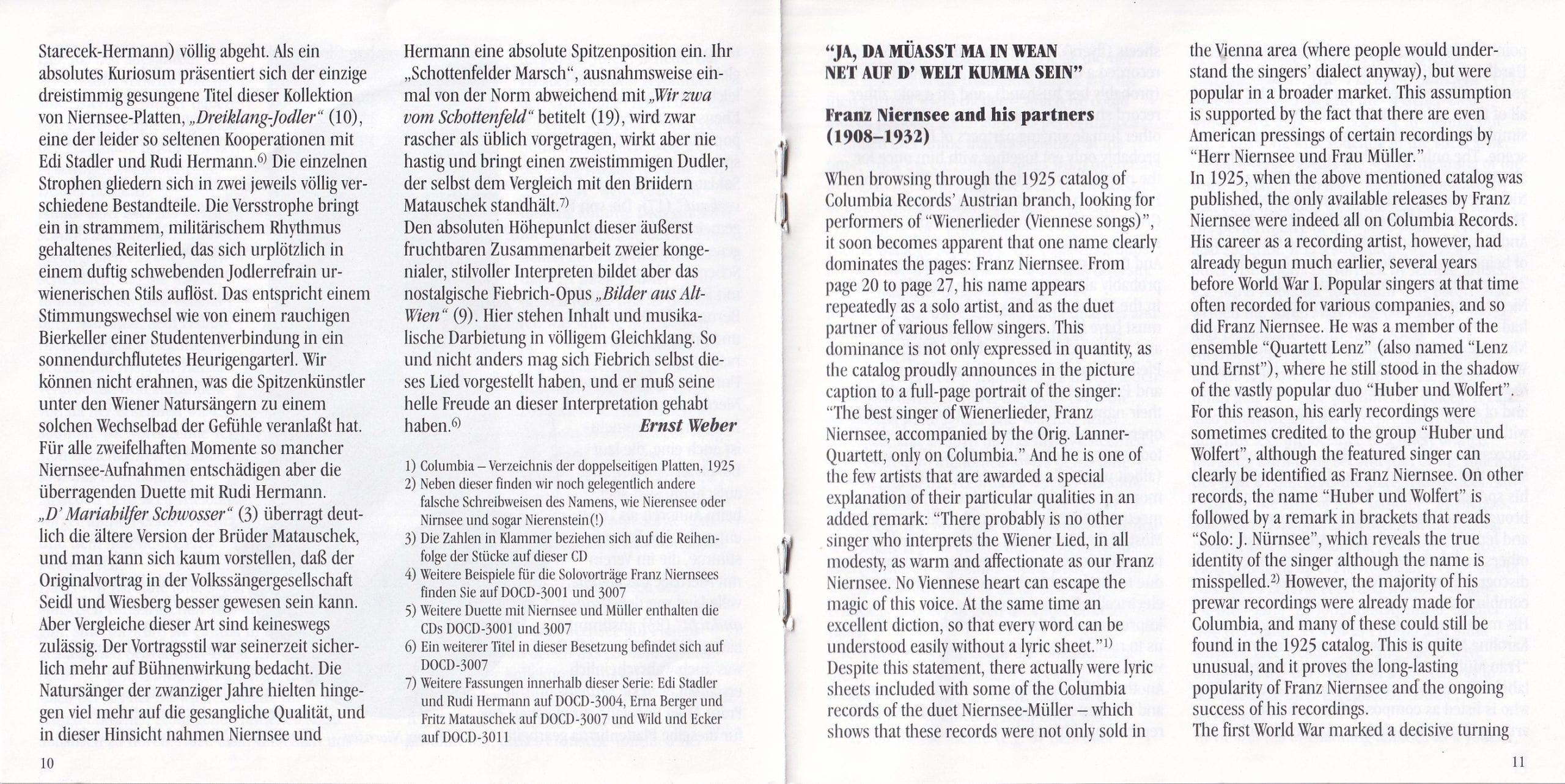 Ja, da müaßt ma in Wien net … – Booklet – 10-11