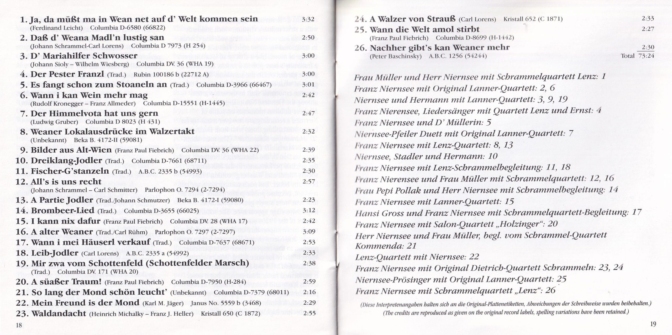 Ja, da müaßt ma in Wien net … – Booklet – 18-19