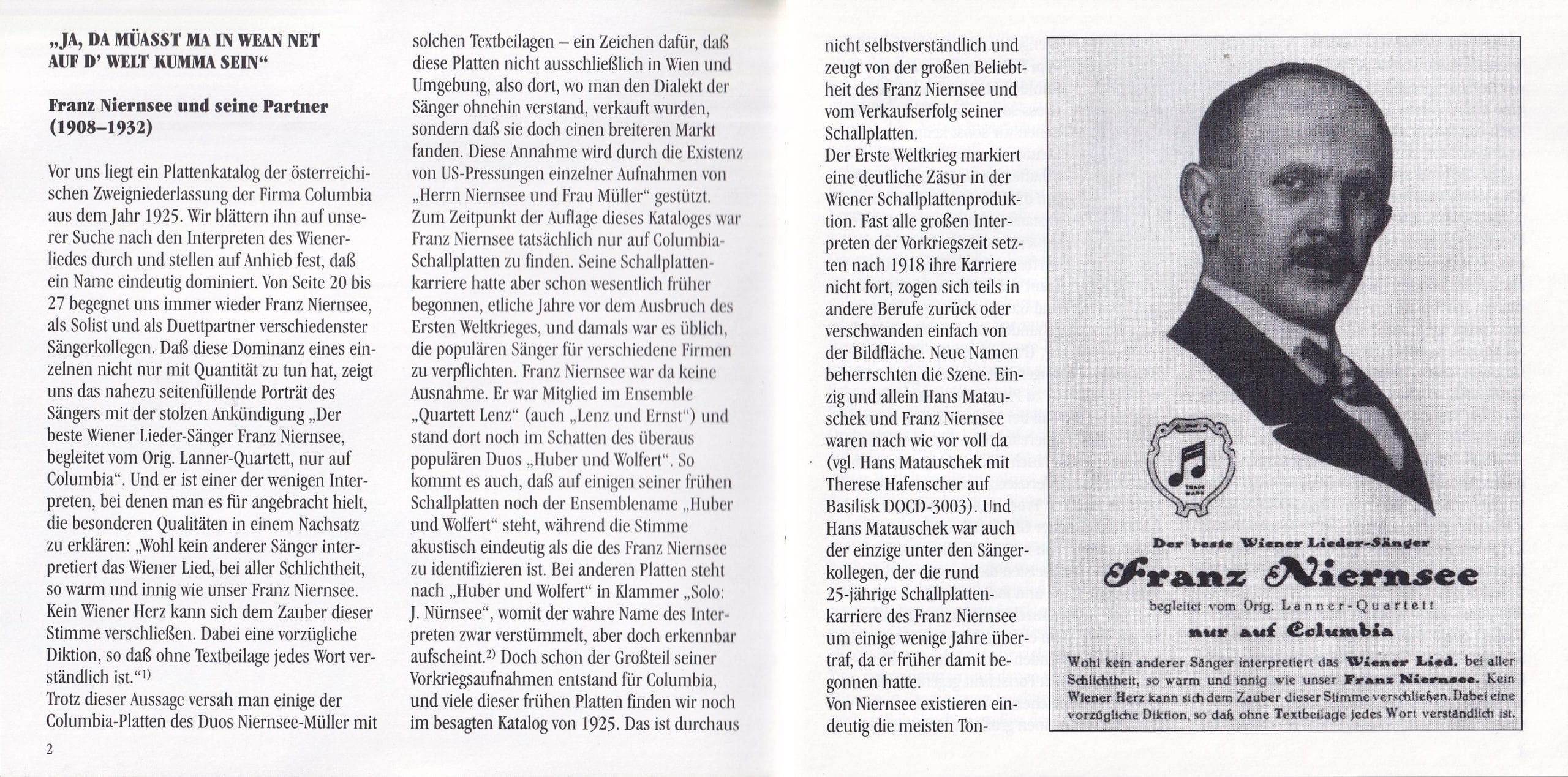 Ja, da müaßt ma in Wien net … – Booklet – 2-3