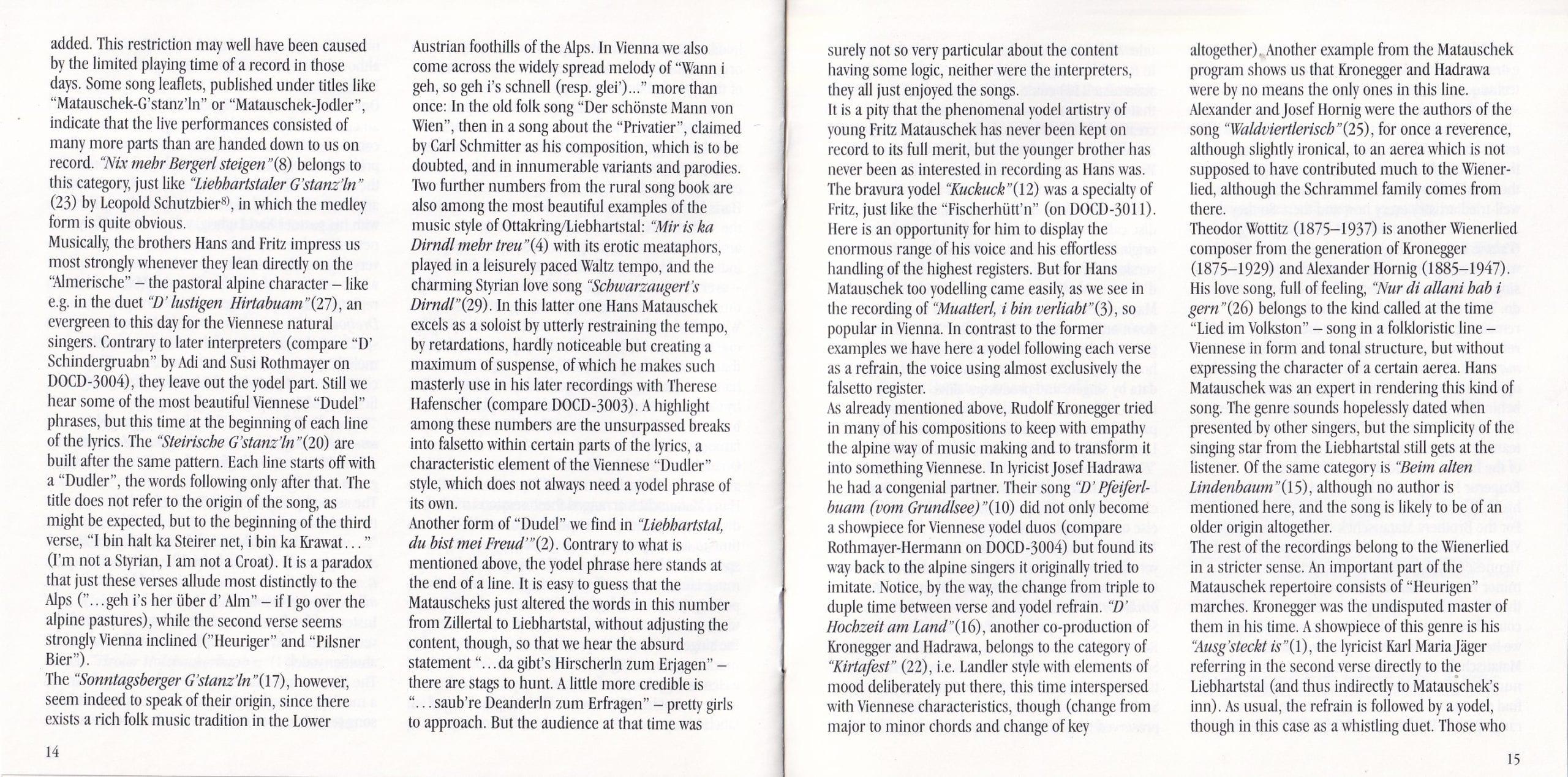 Liebhartstal, du bist mei Freud – Booklet – 14-15