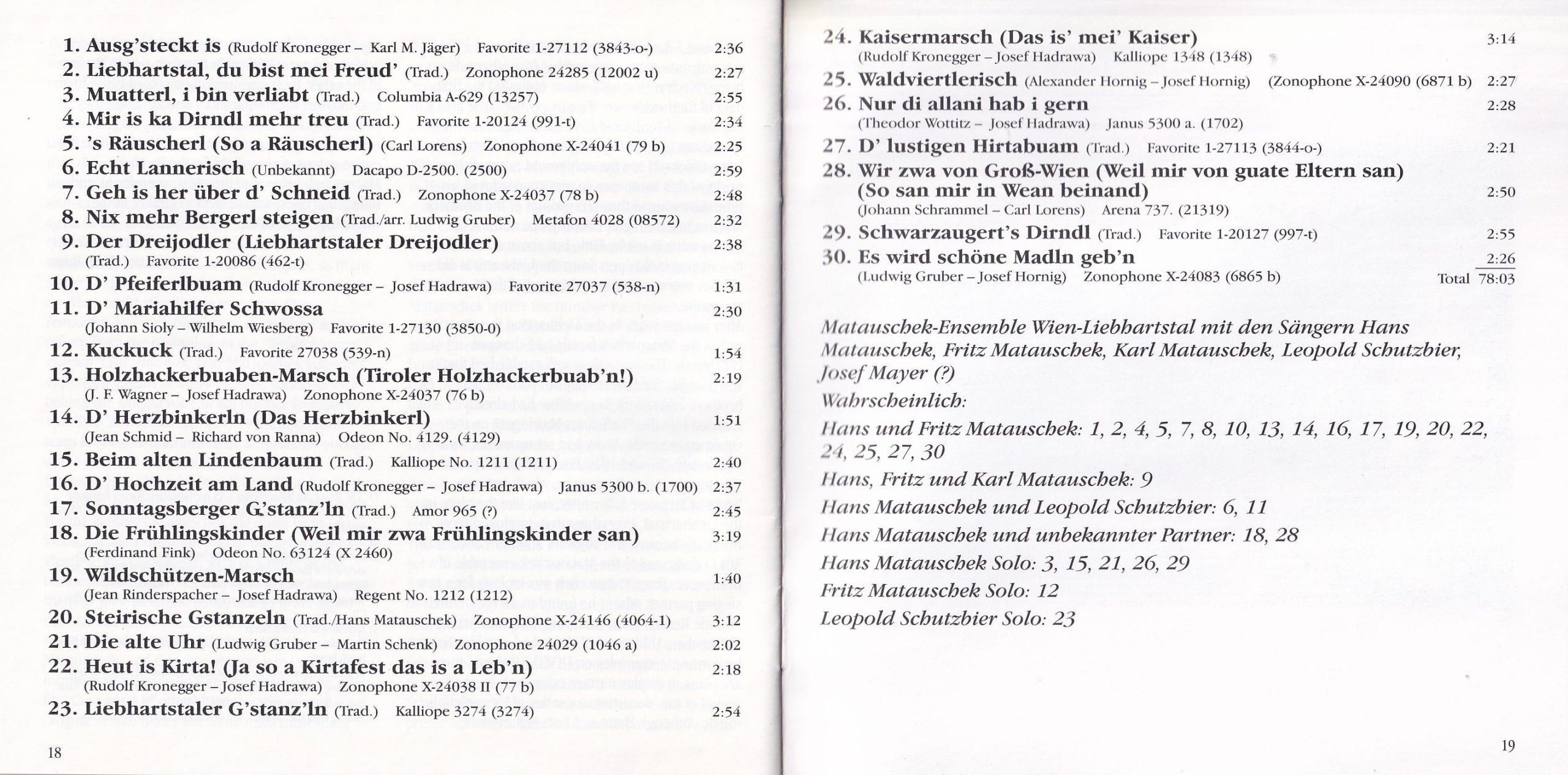Liebhartstal, du bist mei Freud – Booklet – 18-19