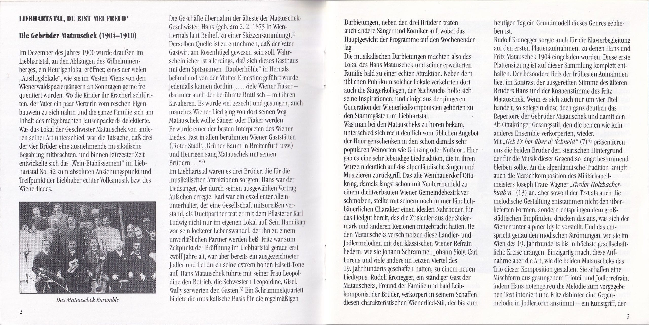 Liebhartstal, du bist mei Freud – Booklet – 2-3