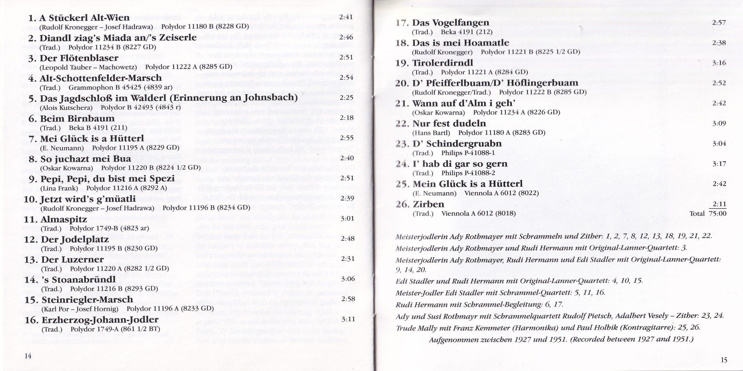 Nur fest dudeln – Booklet 14-15