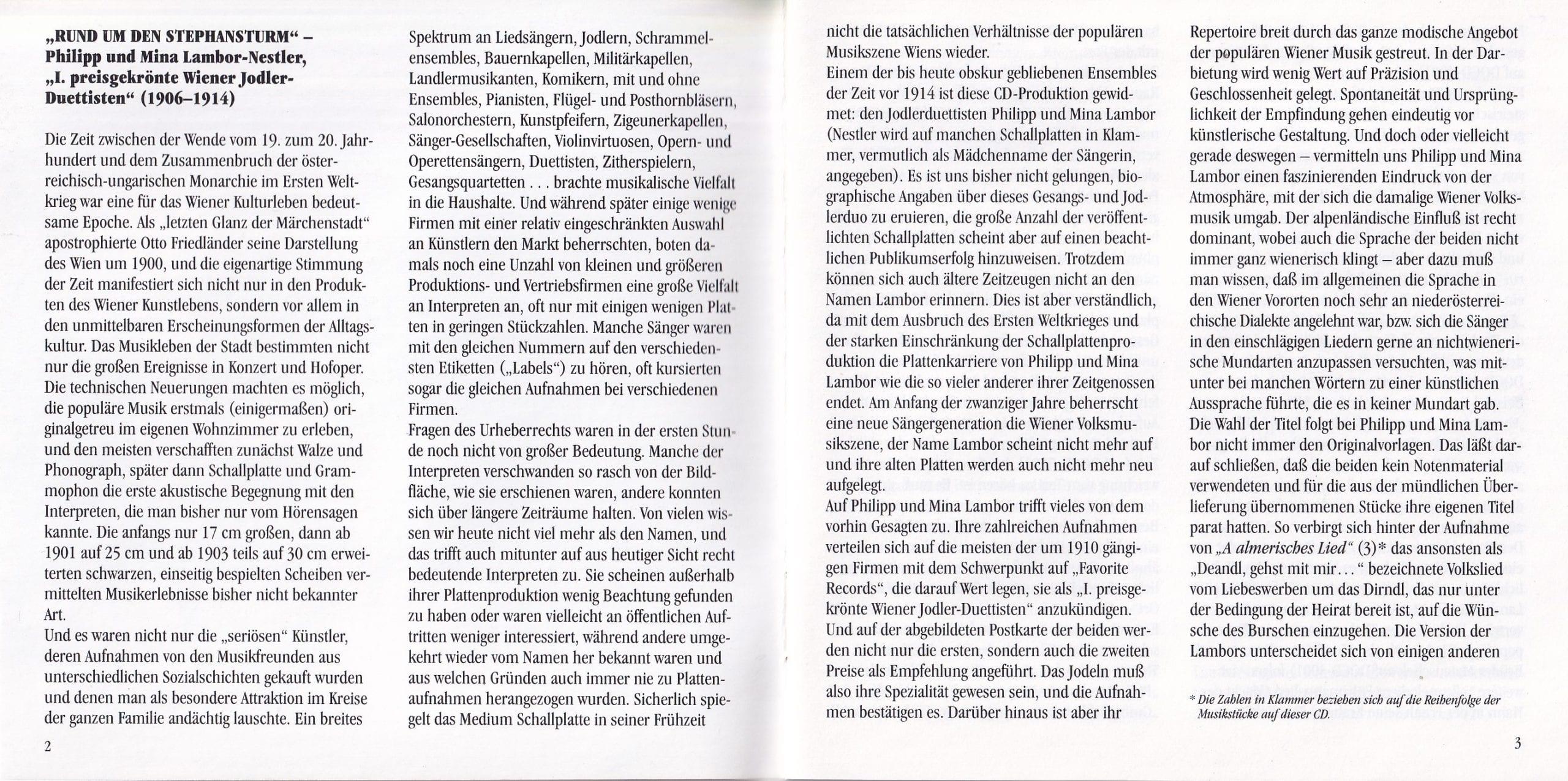 Rund um den Stephansturm – Booklet – 2-3