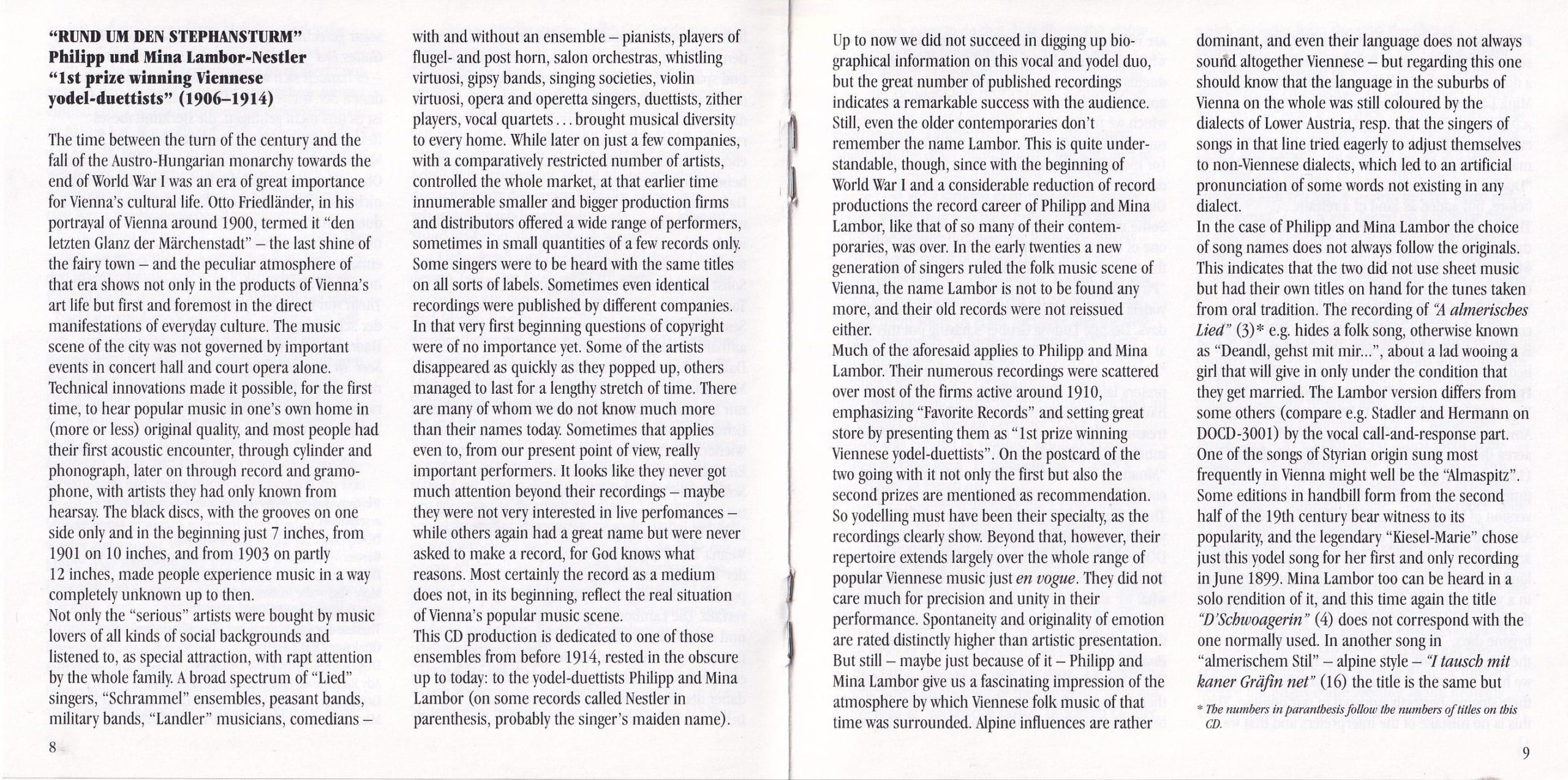 Rund um den Stephansturm – Booklet – 8-9