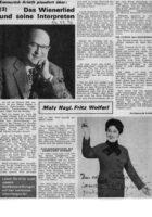 1970 Maly Nagl Zeitungsbericht