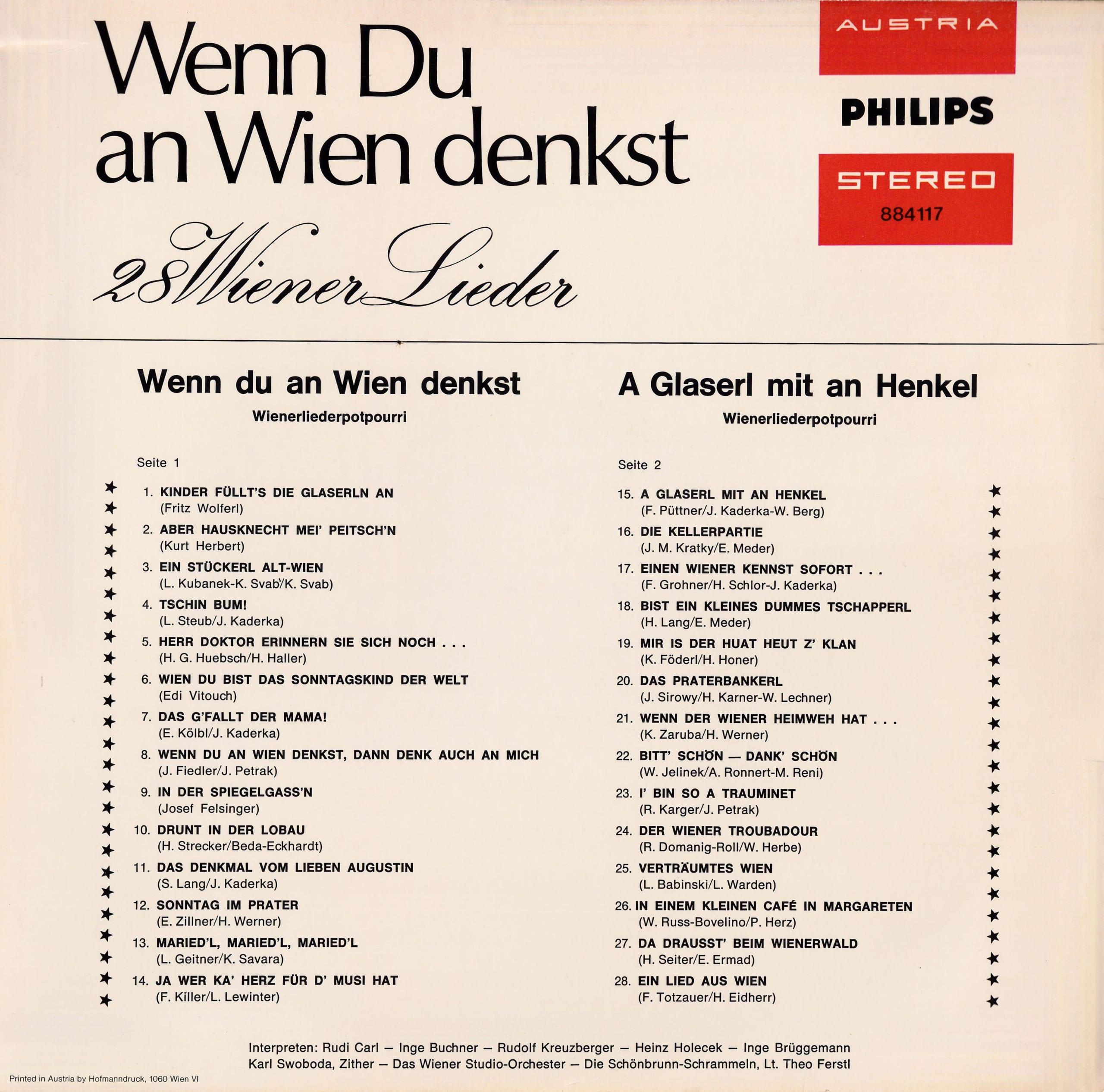 Wenn Du an Wien denkst – 2
