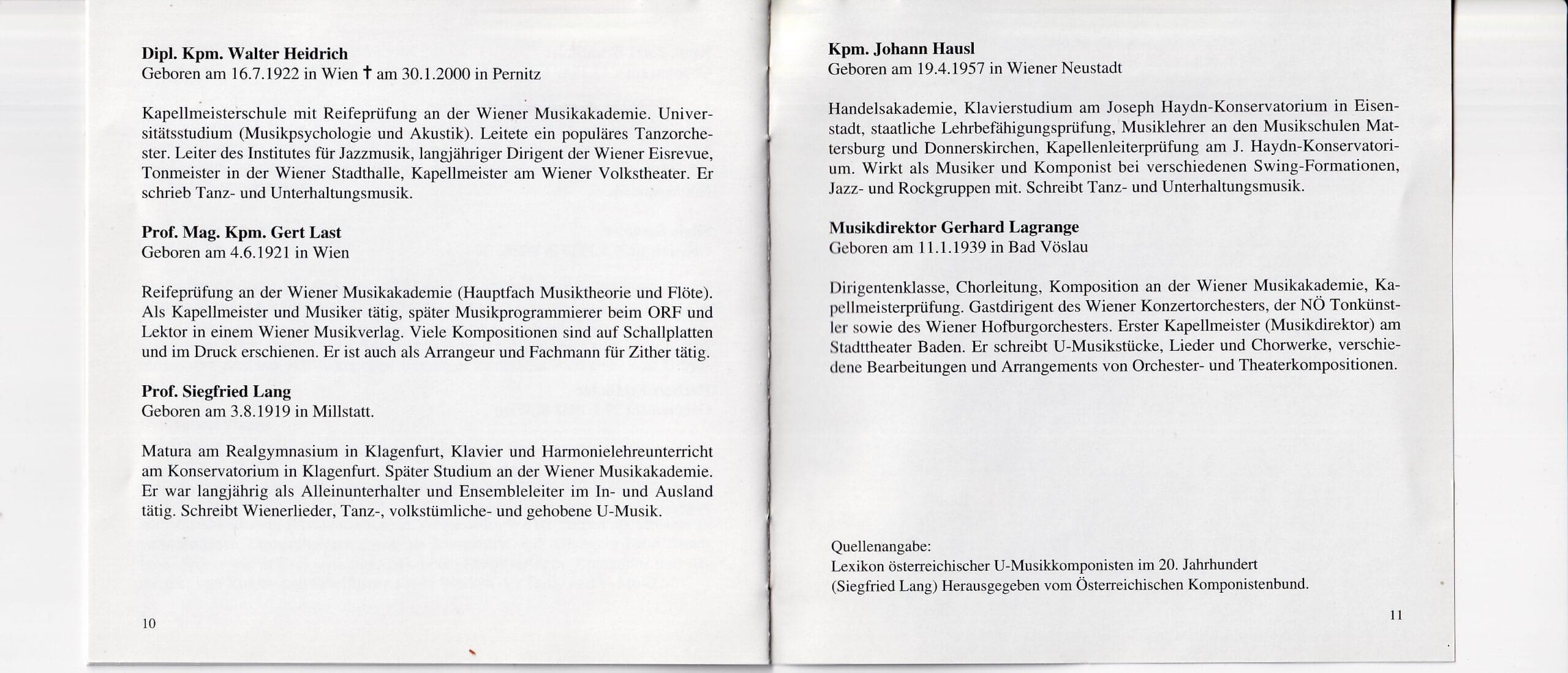 Musik zur Unterhaltung – Booklet – 10-11