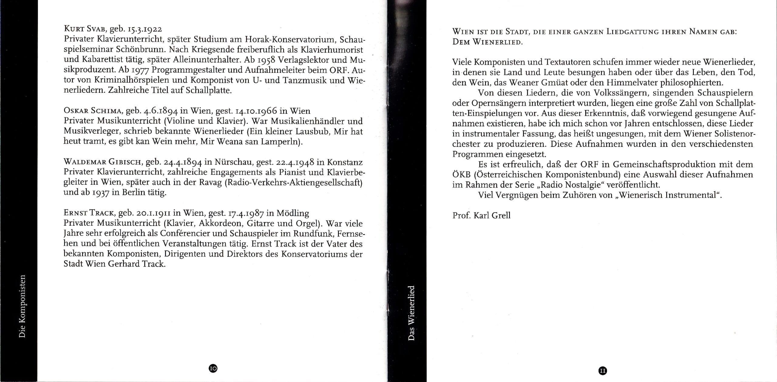 Wienerisch instrumental – Booklet – 10-11