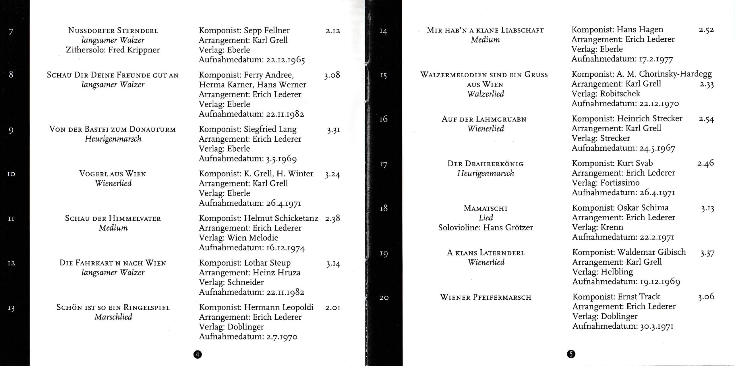 Wienerisch instrumental – Booklet – 4-5