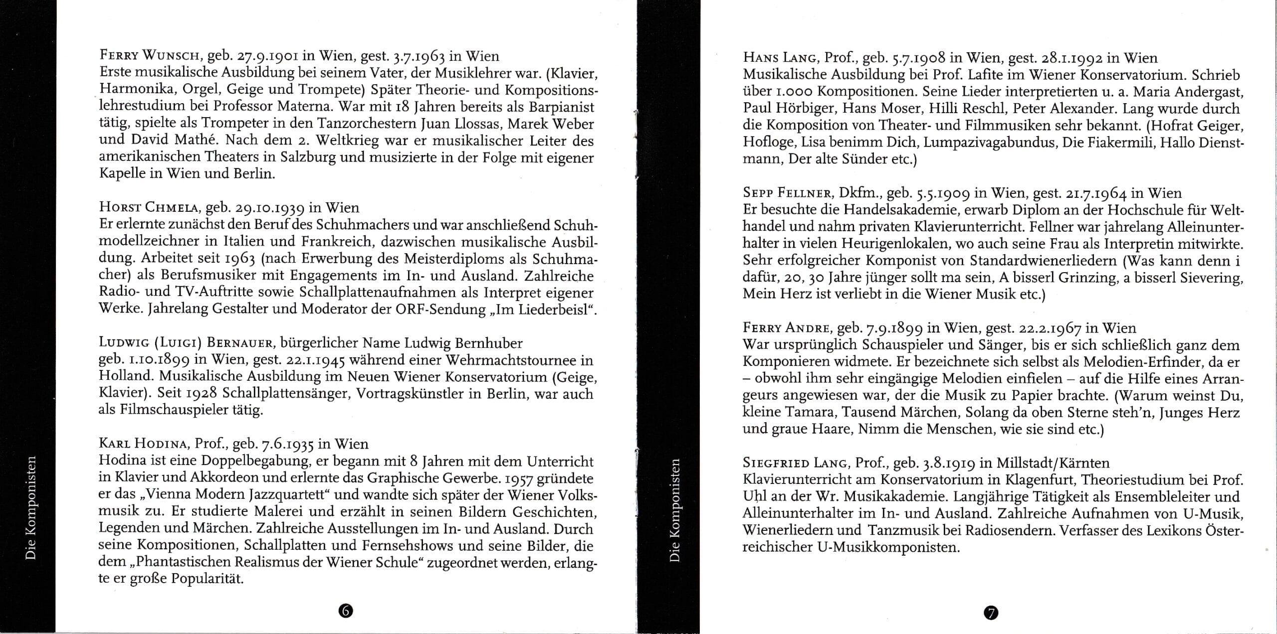 Wienerisch instrumental – Booklet – 6-7