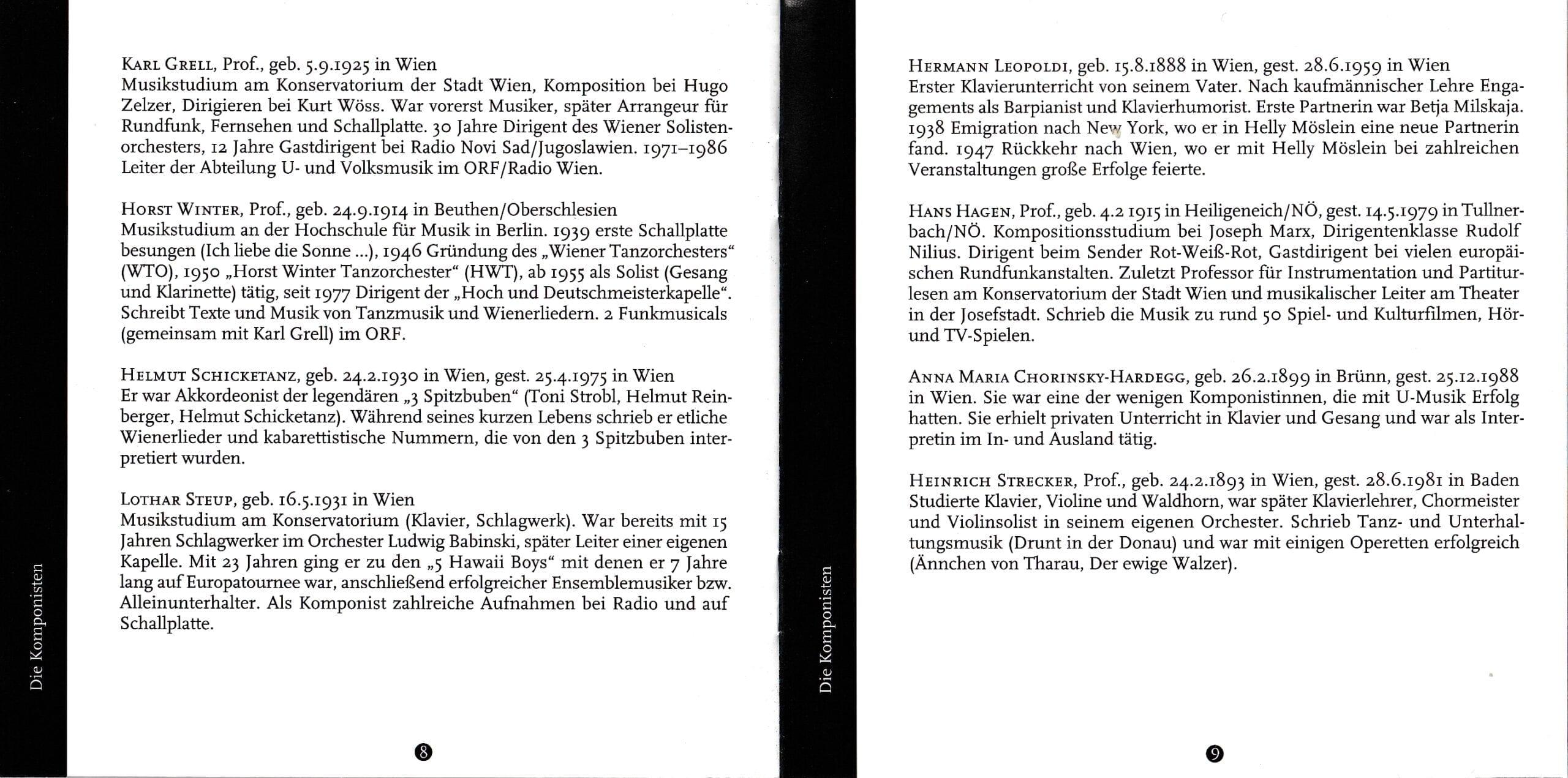 Wienerisch instrumental – Booklet – 8-9