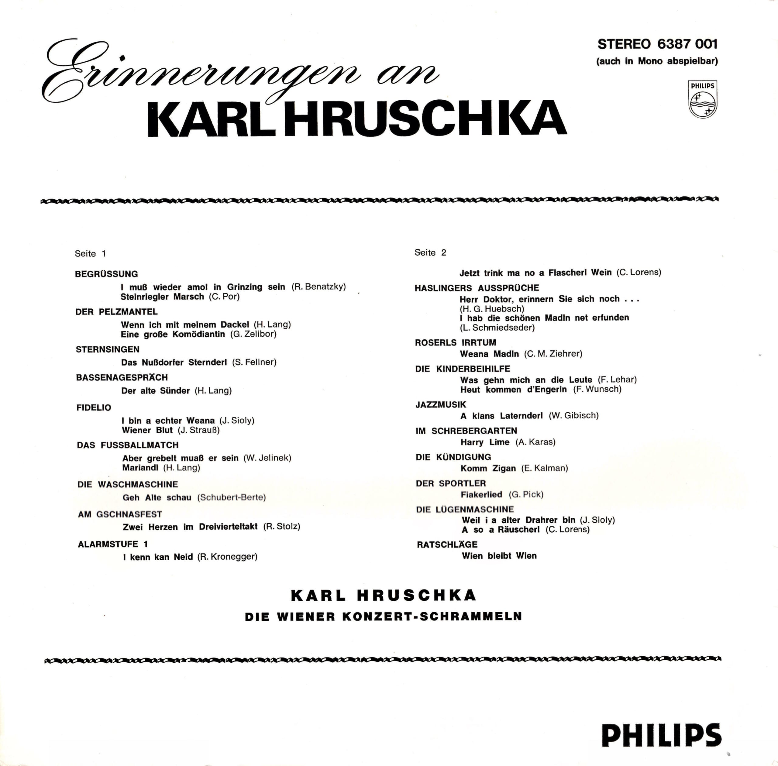 Erinnerungen an Karl Hruschka – 2