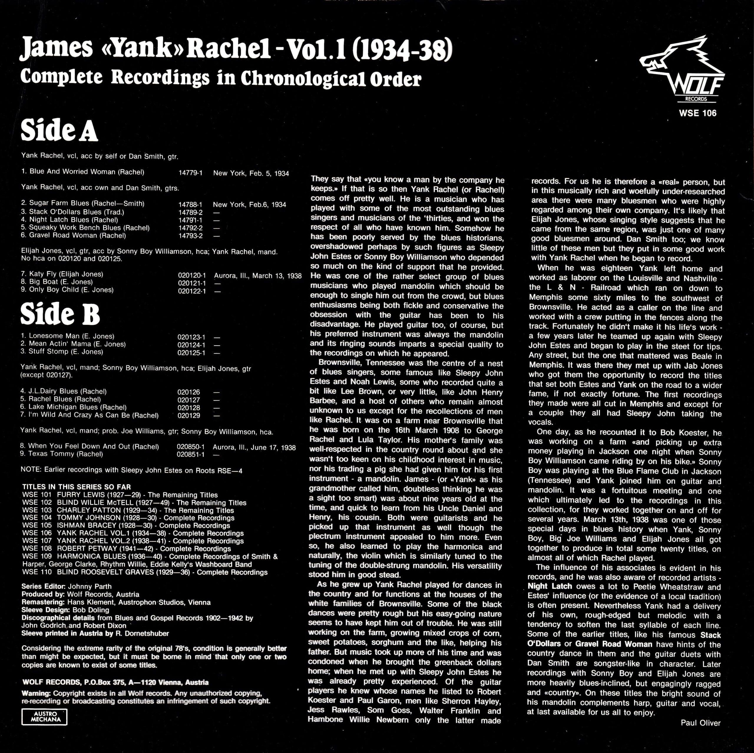 James Yank Rachel, Vol. 1 – 2
