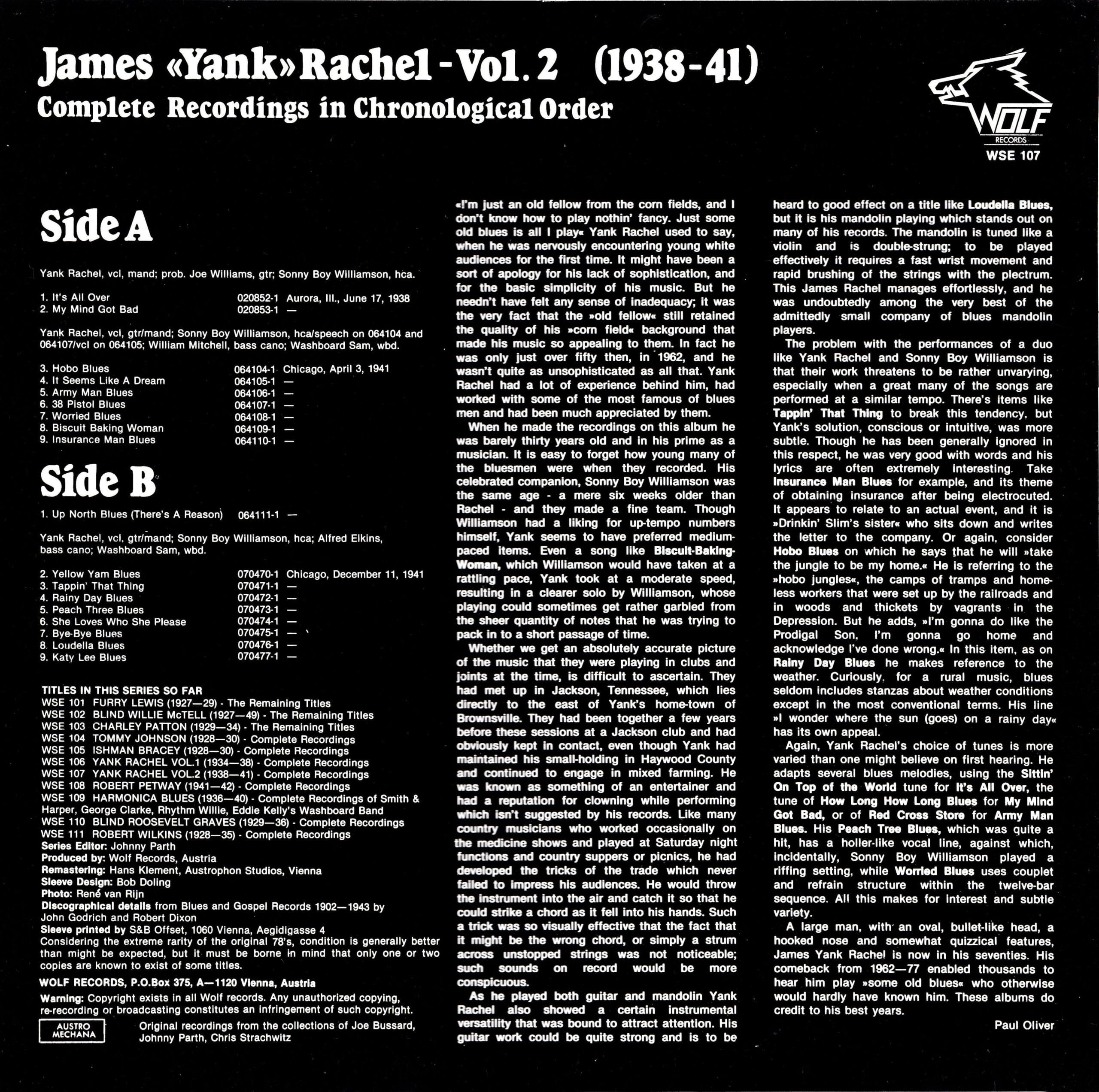 James Yank Rachel, Vol. 2 – 2