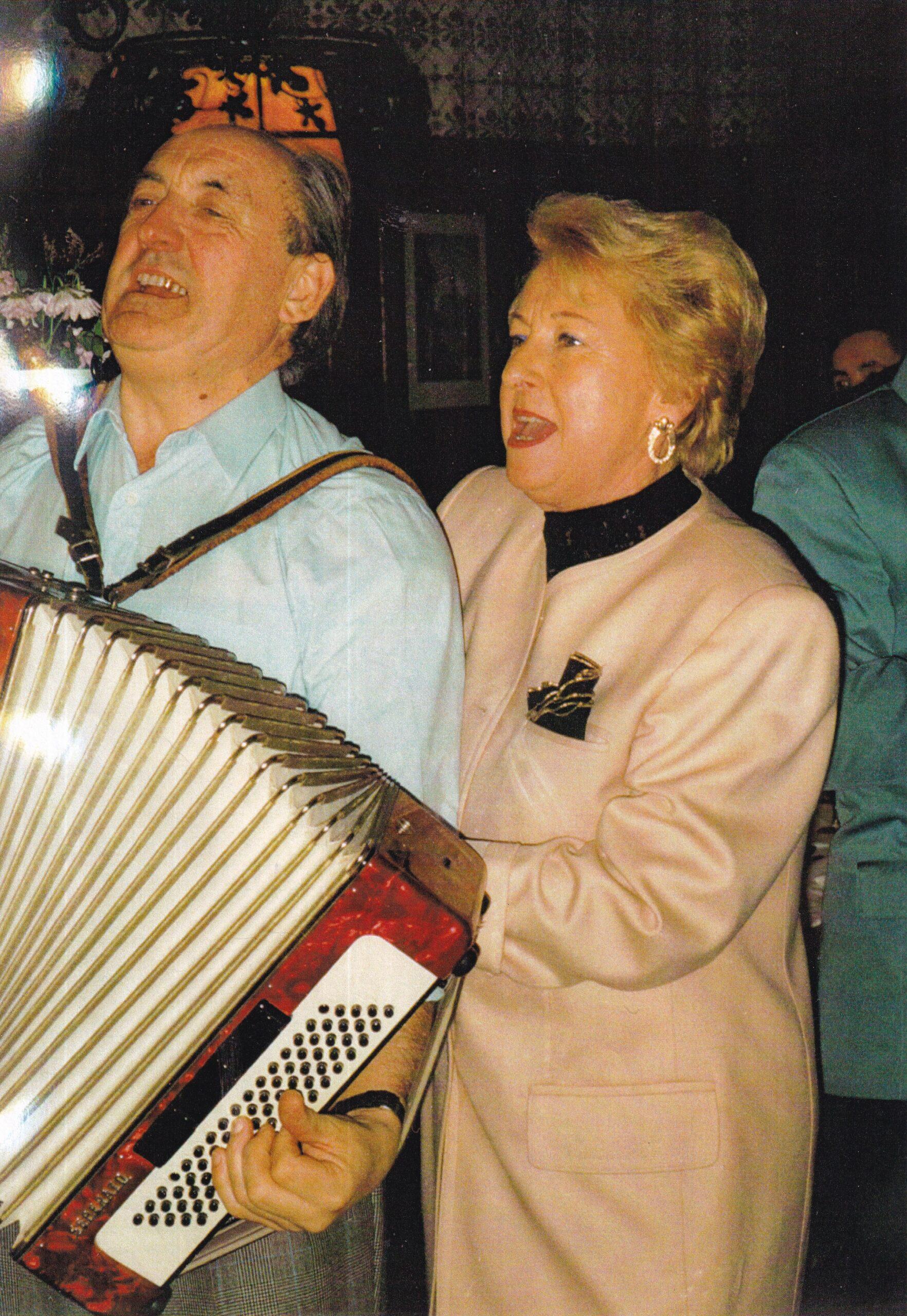 1993 mit Lebensgefährtin Edith