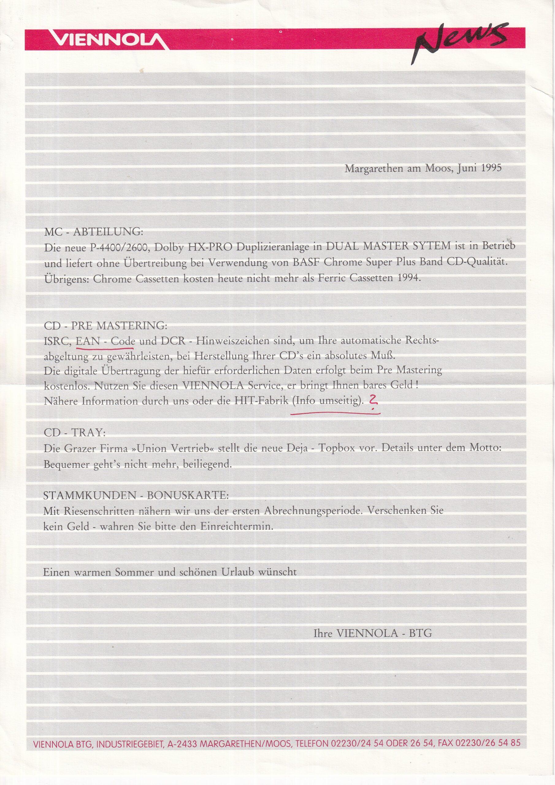 News Juni 1995 – Viennola – 1